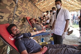 Blood Donation Camp For And With Indian Army