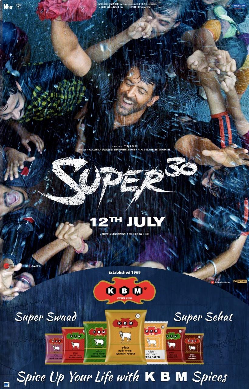 KBM Spices Cooks With Hrithik Roshan Starrer Super 30