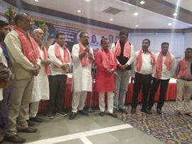 BJP Leader Shri Vishal Bhagat Celebrates Raksha Bandhan At Ambuj Wadi And Opening Of Jan Sampark Karylaya By Shri Vinod Shelar BJP North Mumbai President