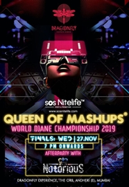 Queen of Mashups World DJane Championship  to be held on 27th Nov  2019