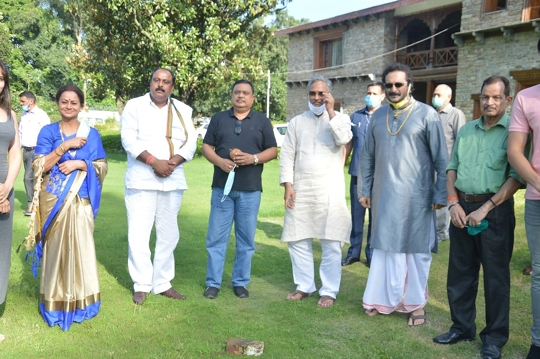 RAKESH SAWANT New film VISHH- POISON Muhrat performed by chief minister UTRAKHAND Trivendra Singh Rawat