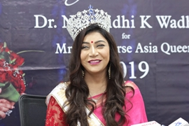 Blockbuster Welcome In Mumbai Of Dr Naavnidhi K Wadhwa After She Was Crowned  Mrs Universe Asia Queen 2019 – Beauty Pageant