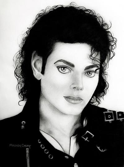 Charcoal Sketch Tribute By Artist Mridula Chury To The King Of Pop Michael Jackson On His Birth Anniversary